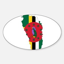 Dominica Flag and Map Decal