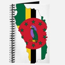 Dominica Flag and Map Journal