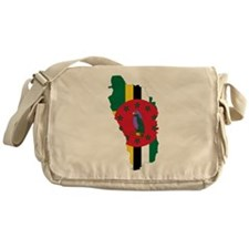 Dominica Flag and Map Messenger Bag