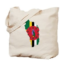 Dominica Flag and Map Tote Bag