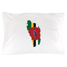 Dominica Flag and Map Pillow Case