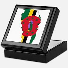 Dominica Flag and Map Keepsake Box