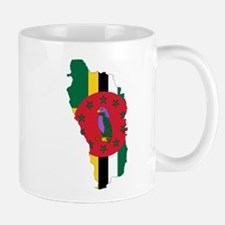 Dominica Flag and Map Mug