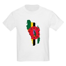 Dominica Flag and Map T-Shirt