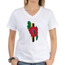 Dominica Flag and Map Shirt