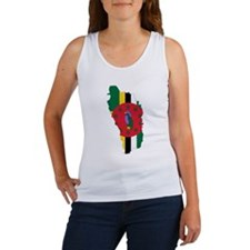 Dominica Flag and Map Women's Tank Top