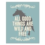 Horse Quote Small Poster