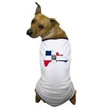 Dominican Republic Flag and Map Dog T-Shirt