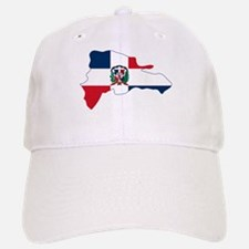 Dominican Republic Flag and Map Baseball Baseball Cap