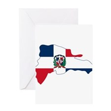 Dominican Republic Flag and Map Greeting Card