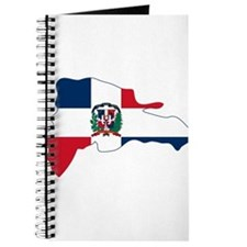 Dominican Republic Flag and Map Journal