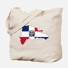 Dominican Republic Flag and Map Tote Bag