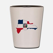 Dominican Republic Flag and Map Shot Glass