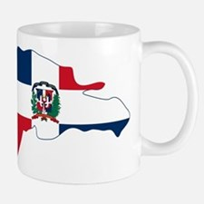 Dominican Republic Flag and Map Mug