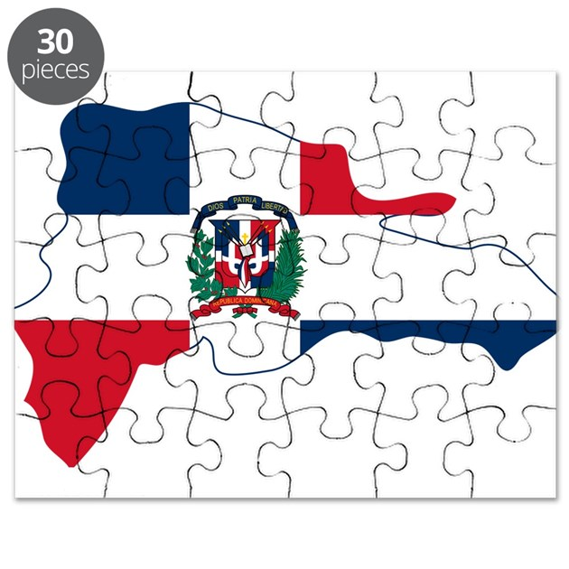 Dominican Republic Flag And Map Puzzle By FlagsAndMaps