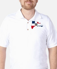 Dominican Republic Flag and Map Golf Shirt