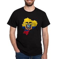 Ecuador Flag and Map T-Shirt