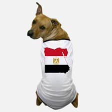 Egypt Flag and Map Dog T-Shirt