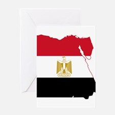 Egypt Flag and Map Greeting Card