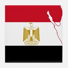 Egypt Flag and Map Tile Coaster
