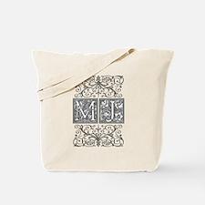 MJ, initials, Tote Bag