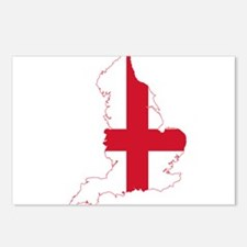 England Commonwealth Flag and Map Postcards (Packa