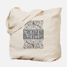 MT, initials, Tote Bag