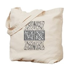 MX, initials, Tote Bag