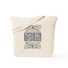 NL, initials, Tote Bag