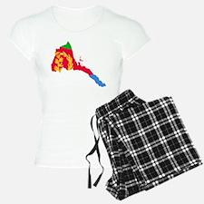 Eretria Flag and Map Pajamas