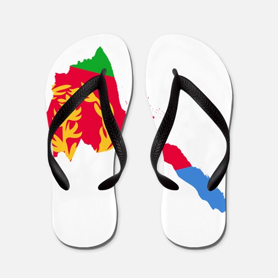 Eretria Flag and Map Flip Flops