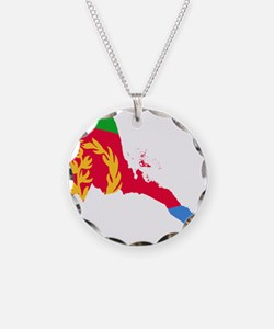 Eretria Flag and Map Necklace