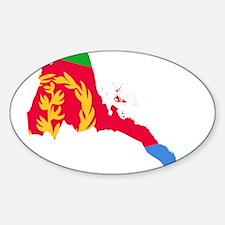 Eretria Flag and Map Sticker (Oval)