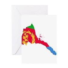 Eretria Flag and Map Greeting Card