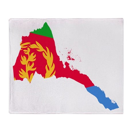 Eretria Flag and Map Throw Blanket