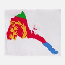 Eretria Flag and Map Throw Blanket