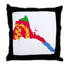Eretria Flag and Map Throw Pillow