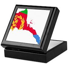 Eretria Flag and Map Keepsake Box