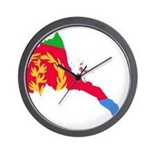 Eretria Flag and Map Wall Clock
