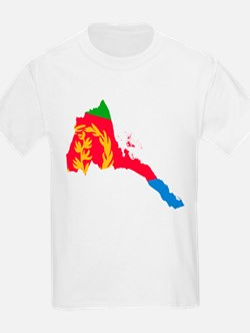 Eretria Flag and Map T-Shirt