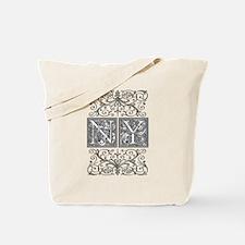 NY, initials, Tote Bag