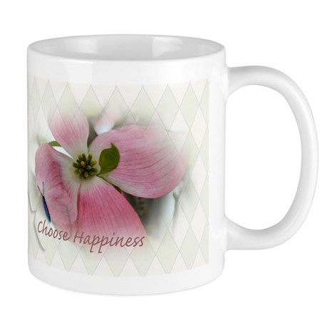 Dogwood and Butterfly Happiness Mug