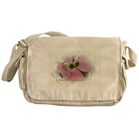 Dogwood and Butterfly Happiness Messenger Bag