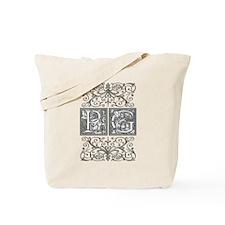 PG, initials, Tote Bag