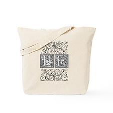 PE, initials, Tote Bag