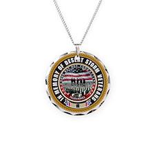 Desert Storm Veterans Necklace Circle Charm