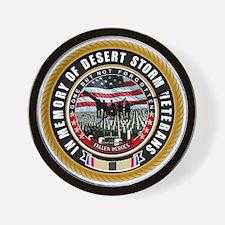 Desert Storm Veterans Wall Clock