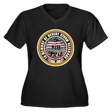 Desert Storm Veterans Women's Plus Size V-Neck Dar