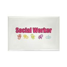 Social Worker Girl Rectangle Magnet (100 pack)