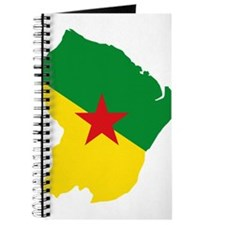 French Guiana Flag and Map Journal